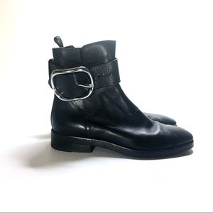 Alexander Wang black leather ankle boots size 37